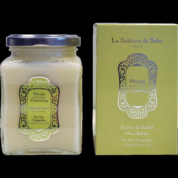 Beurre de karité thé vert gingembre voyage sur la route de Darjeeling la Sultane de Saba